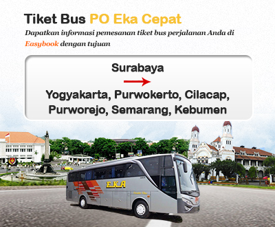 Newly launched Eka Cepat Bus tickets
