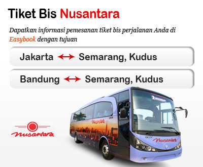Newly launched Nusantara bus tickets